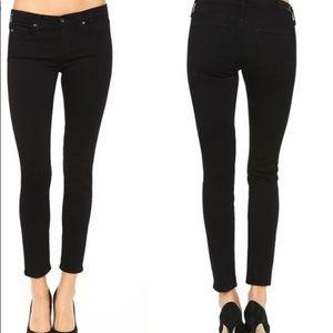AG Super skinny Black ankle Jean size 30R